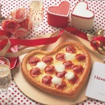 バレンタイン限定「ハッピーバレンタインピザ」